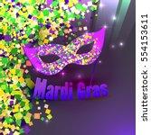 vector carnival mardi gras... | Shutterstock .eps vector #554153611