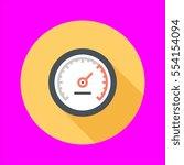 speedometer icon flat design