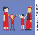Chinese Family Illustration...
