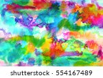 abstract blue rainbow ink... | Shutterstock . vector #554167489