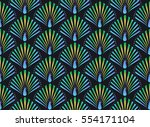 abstract colorful peacock... | Shutterstock .eps vector #554171104