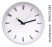 silver round wall clock | Shutterstock . vector #554171281