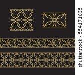 seamless geometric tiling... | Shutterstock .eps vector #554171635