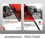red flyer cover business... | Shutterstock .eps vector #554171641