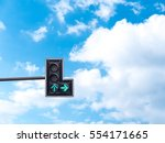 green color on the traffic... | Shutterstock . vector #554171665