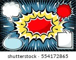 hand drawn of speech comic... | Shutterstock .eps vector #554172865