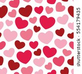 hearts seamless pattern... | Shutterstock .eps vector #554179435