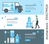 water delivery service banner... | Shutterstock .eps vector #554179924