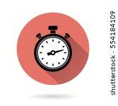 stopwatch vector icon.... | Shutterstock .eps vector #554184109