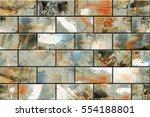 colorful vintage ceramic tiles... | Shutterstock . vector #554188801