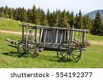horse trailer with flowers | Shutterstock . vector #554192377