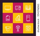 appliances line icons set ... | Shutterstock .eps vector #554196061