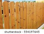 Wooden Fence Door. Cozy Wood...
