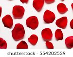 Bright Red Rose Petals On A...