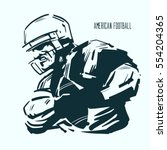 american football player in... | Shutterstock .eps vector #554204365