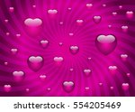 valentine's day card template... | Shutterstock .eps vector #554205469