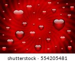 valentine's day card template... | Shutterstock .eps vector #554205481