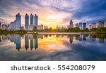 bangkok cityscape view at park...   Shutterstock . vector #554208079