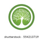 tree leaf vector logo design ... | Shutterstock .eps vector #554213719