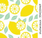 fresh lemons background  hand... | Shutterstock .eps vector #554220469