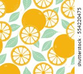 fresh oranges background  hand... | Shutterstock .eps vector #554220475