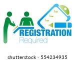 registration  form  vector ...   Shutterstock .eps vector #554234935
