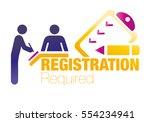 registration  form  vector ... | Shutterstock .eps vector #554234941