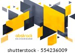 Creative abstract design decorated background. | Shutterstock vector #554236009