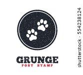 grunge post stamp. circle...   Shutterstock .eps vector #554238124