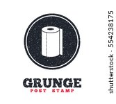 grunge post stamp. circle... | Shutterstock .eps vector #554238175
