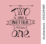hand lettering on a pink... | Shutterstock .eps vector #554239489
