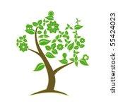 green tree | Shutterstock .eps vector #55424023