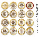 luxury retro badge and labels... | Shutterstock .eps vector #554244997