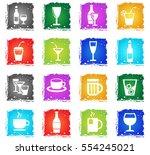 glasses web icons in grunge... | Shutterstock .eps vector #554245021