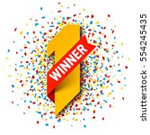 first winner  number one... | Shutterstock .eps vector #554245435