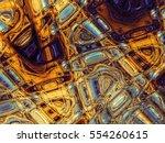 digital art abstract pattern.... | Shutterstock . vector #554260615