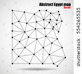 abstract polygonal egypt map... | Shutterstock .eps vector #554265535