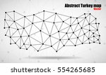 abstract polygonal map turkey... | Shutterstock .eps vector #554265685