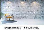 modern loft interior   living... | Shutterstock . vector #554266987