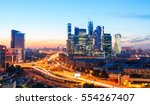 high rise buildings and... | Shutterstock . vector #554267407