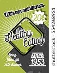 color vintage nutritionist... | Shutterstock .eps vector #554268931