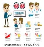 tonsillitis infographic element.... | Shutterstock .eps vector #554275771