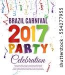 brazil carnival 2017 party... | Shutterstock .eps vector #554277955