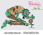 valentine's day zombie series... | Shutterstock .eps vector #554283154