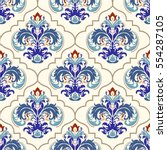 seamless turkish colorful... | Shutterstock .eps vector #554287105