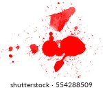 blood drops and splatters on... | Shutterstock .eps vector #554288509