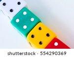 color dice poker | Shutterstock . vector #554290369