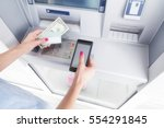 atm money withdrawal and... | Shutterstock . vector #554291845
