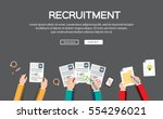 human resource or hr management ... | Shutterstock .eps vector #554296021