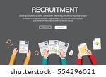 human resource or hr management ... | Shutterstock .eps vector #554296021